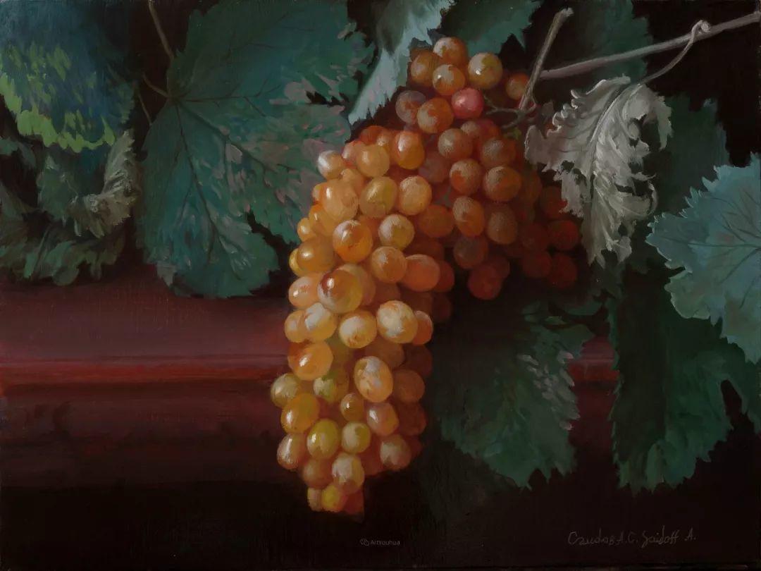 非常丰盛,静物水果!俄罗斯画家亚历山大·赛义多夫作品一插图31