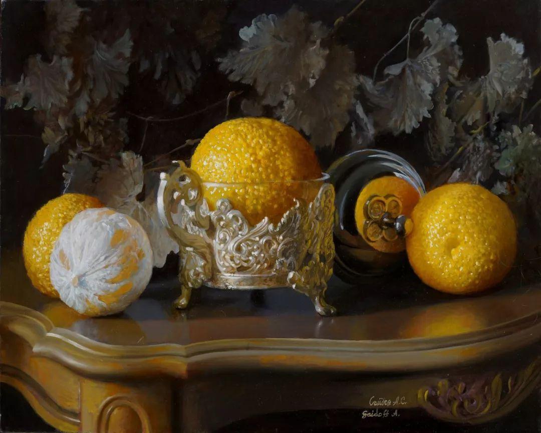 非常丰盛,静物水果!俄罗斯画家亚历山大·赛义多夫作品一插图34
