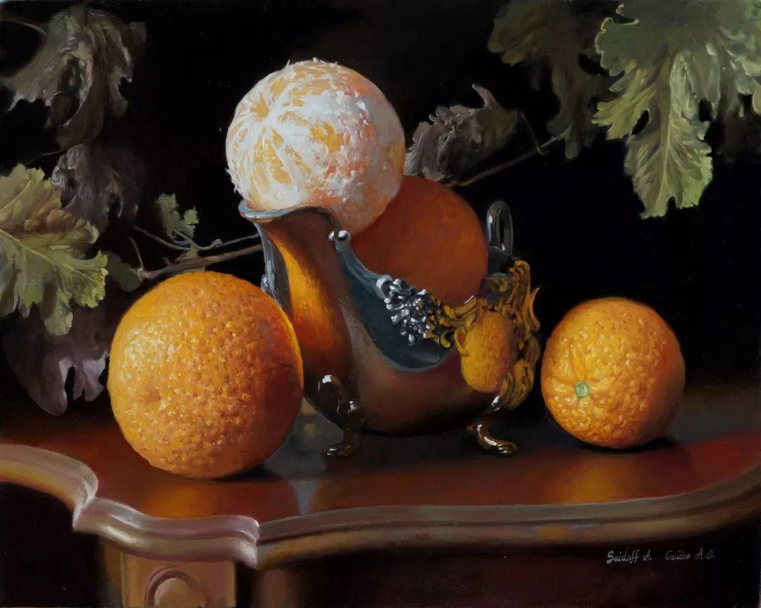 非常丰盛,静物水果!俄罗斯画家亚历山大·赛义多夫作品一插图39
