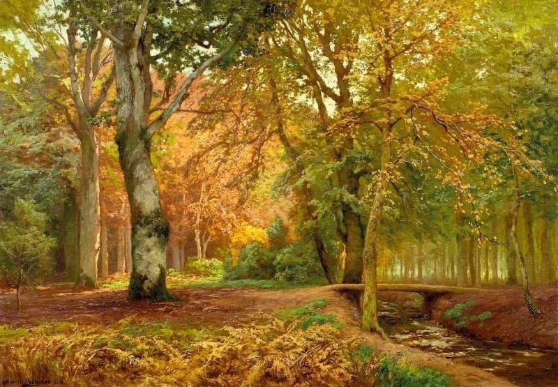 茂密森林,德国画家Heinrich Bohmer作品插图3