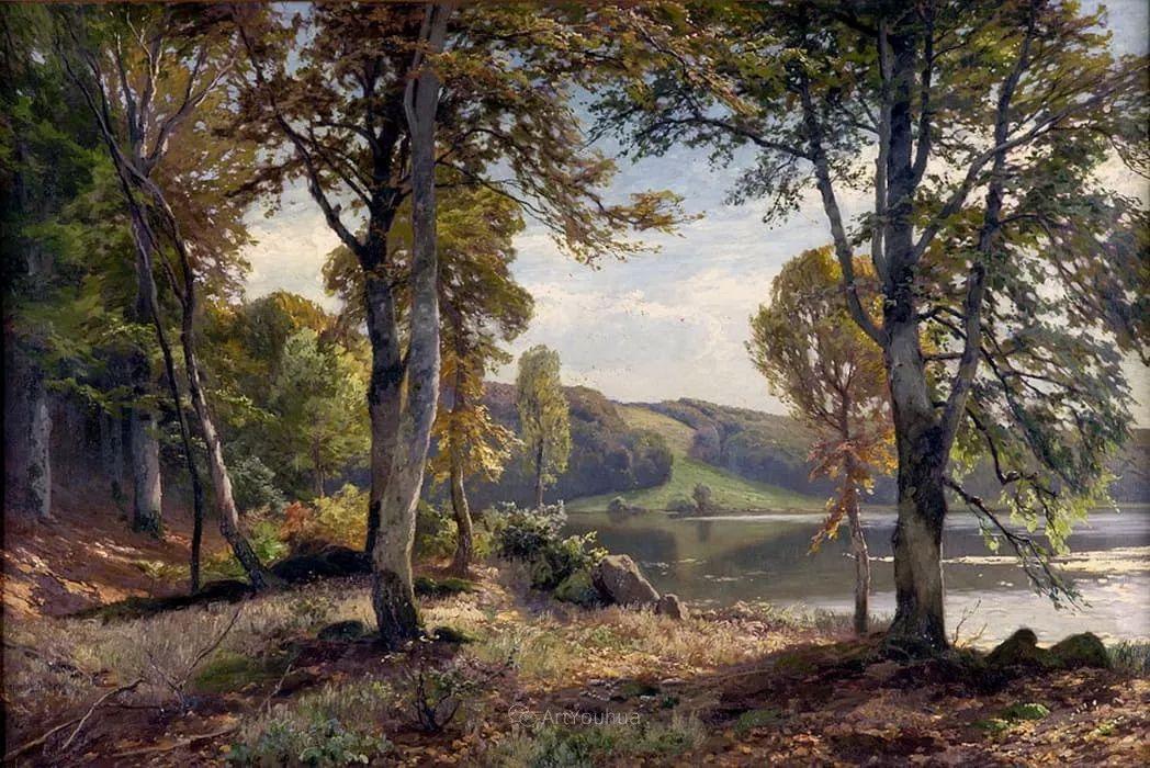 茂密森林,德国画家Heinrich Bohmer作品插图5
