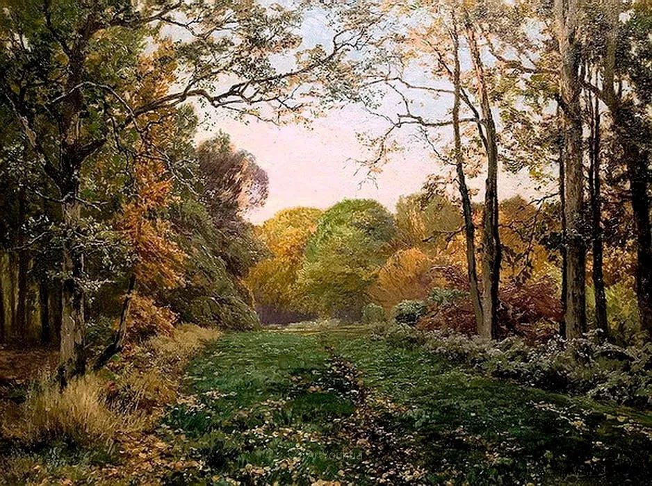 茂密森林,德国画家Heinrich Bohmer作品插图7
