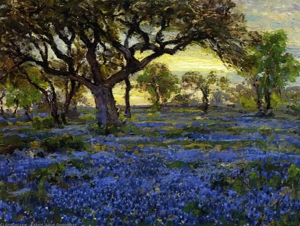 蓝色风景,美国画家罗伯特·朱利安·昂德登克插图3