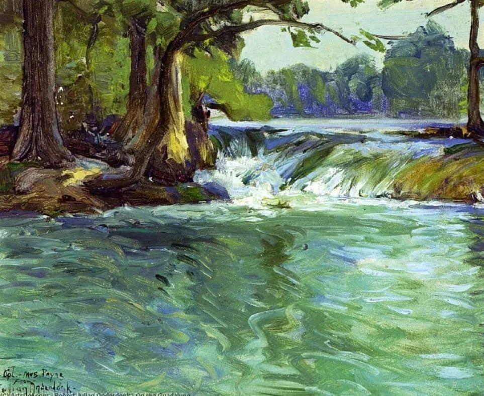 蓝色风景,美国画家罗伯特·朱利安·昂德登克插图9