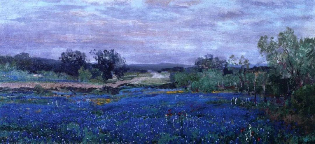 蓝色风景,美国画家罗伯特·朱利安·昂德登克插图11