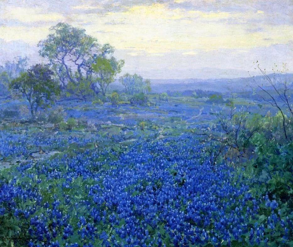 蓝色风景,美国画家罗伯特·朱利安·昂德登克插图13