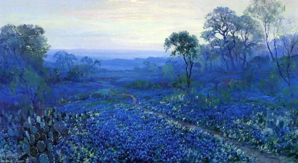 蓝色风景,美国画家罗伯特·朱利安·昂德登克插图15