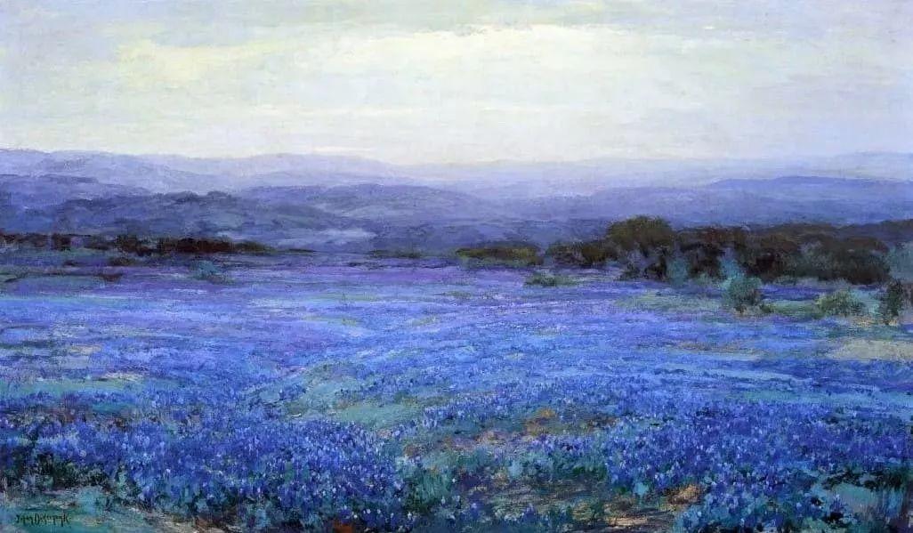 蓝色风景,美国画家罗伯特·朱利安·昂德登克插图17