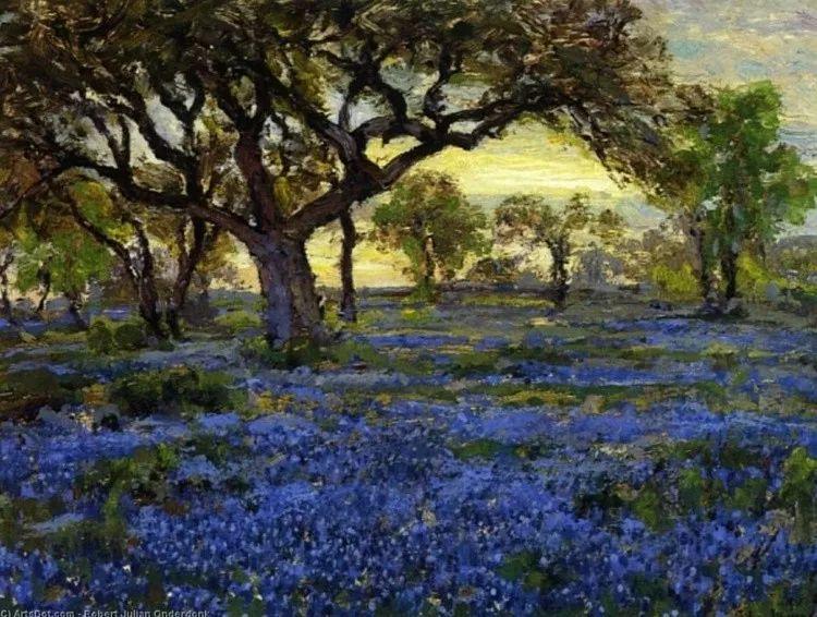 蓝色风景,美国画家罗伯特·朱利安·昂德登克插图23
