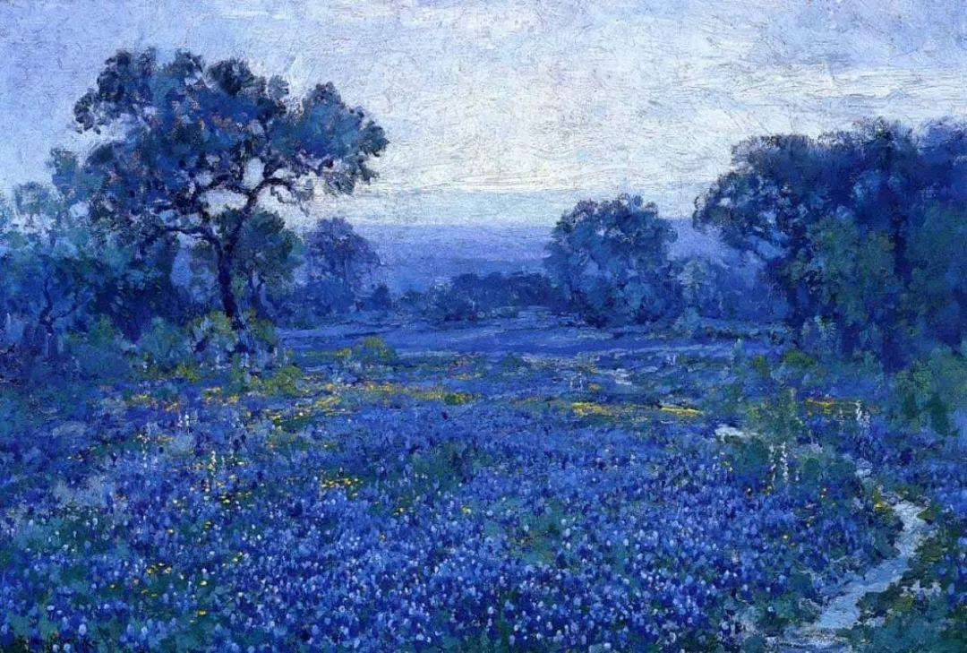 蓝色风景,美国画家罗伯特·朱利安·昂德登克插图25
