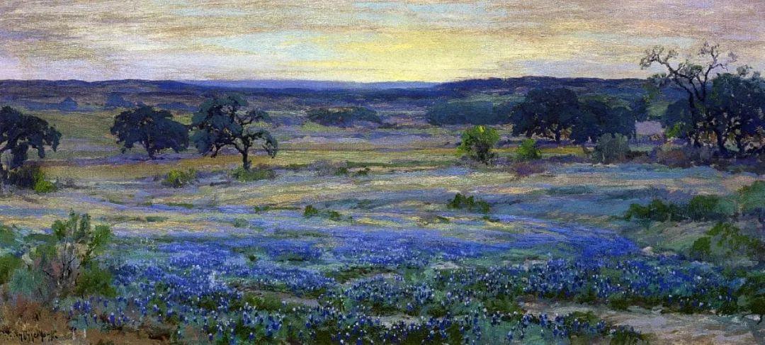 蓝色风景,美国画家罗伯特·朱利安·昂德登克插图27