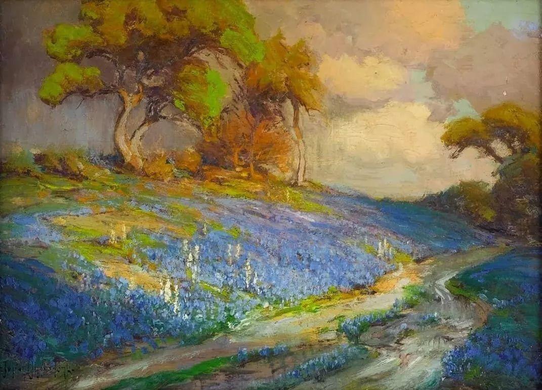 蓝色风景,美国画家罗伯特·朱利安·昂德登克插图31