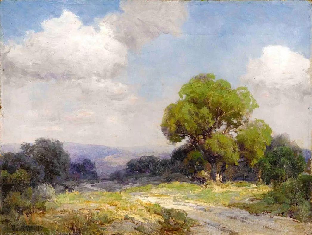 蓝色风景,美国画家罗伯特·朱利安·昂德登克插图35