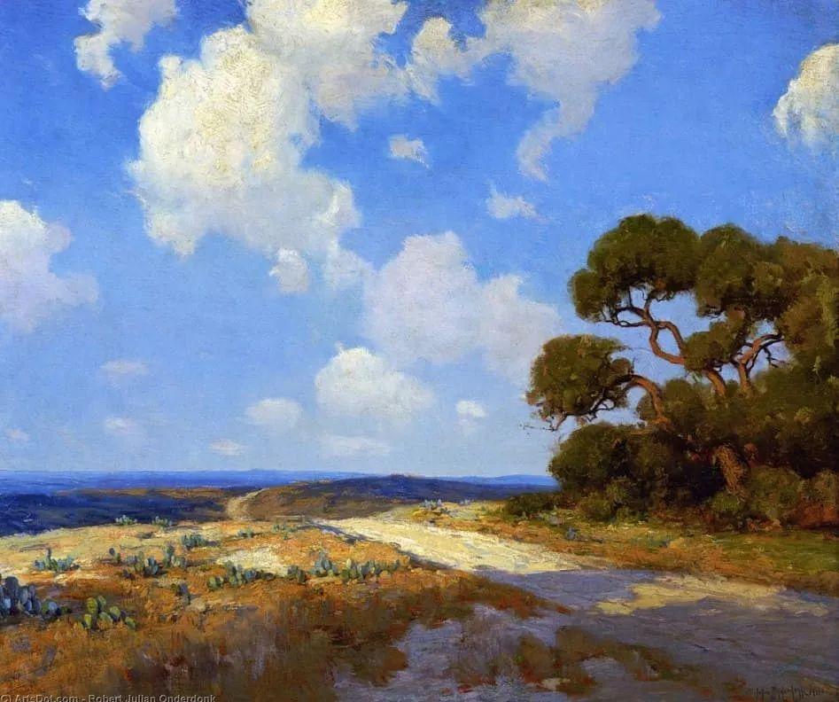 蓝色风景,美国画家罗伯特·朱利安·昂德登克插图39