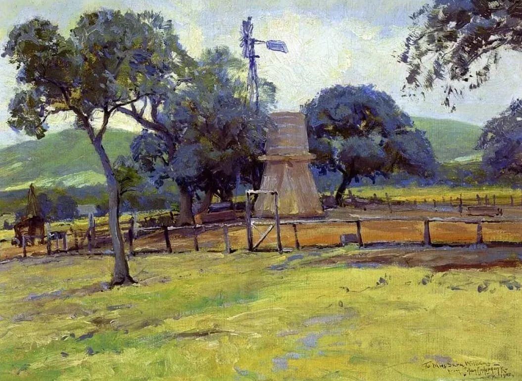 蓝色风景,美国画家罗伯特·朱利安·昂德登克插图43
