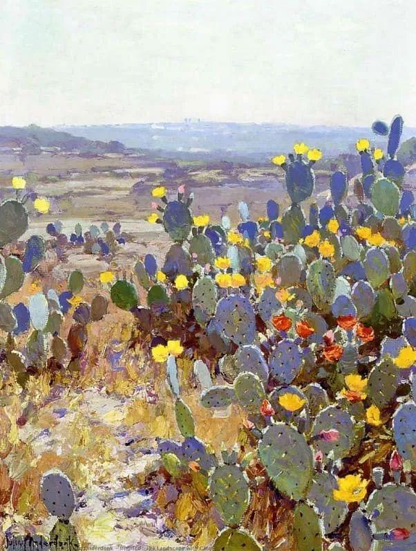 蓝色风景,美国画家罗伯特·朱利安·昂德登克插图45