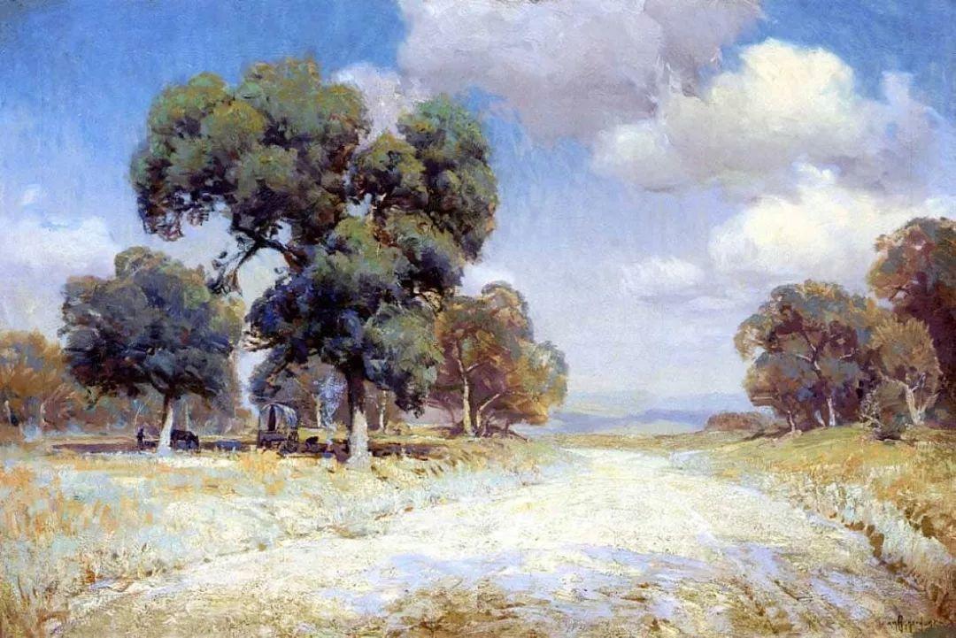 蓝色风景,美国画家罗伯特·朱利安·昂德登克插图48