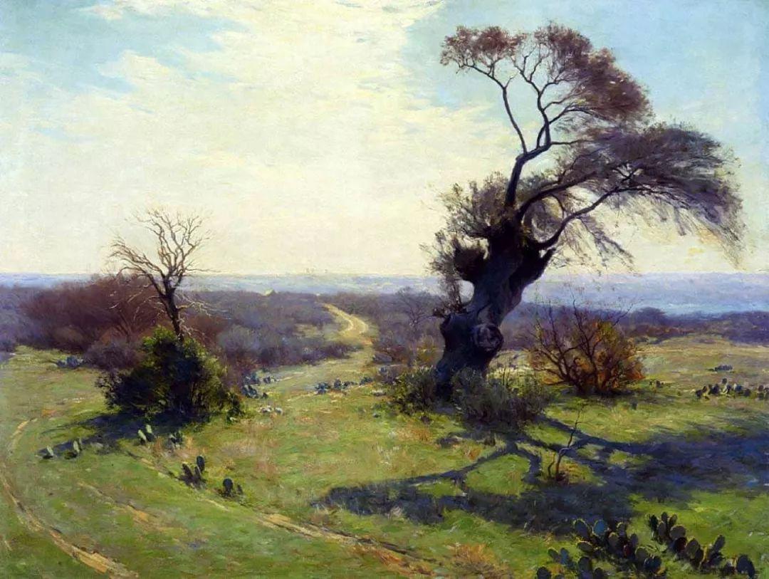 蓝色风景,美国画家罗伯特·朱利安·昂德登克插图50