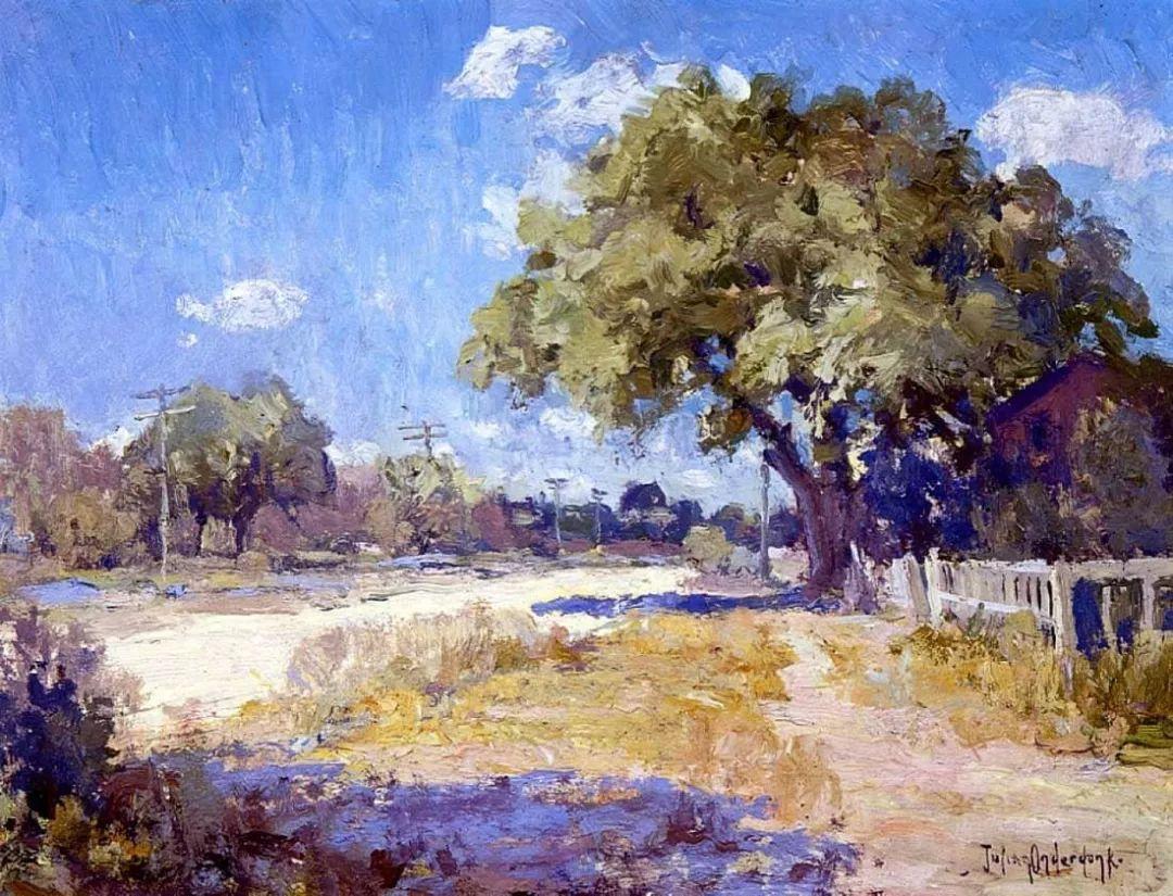 蓝色风景,美国画家罗伯特·朱利安·昂德登克插图52
