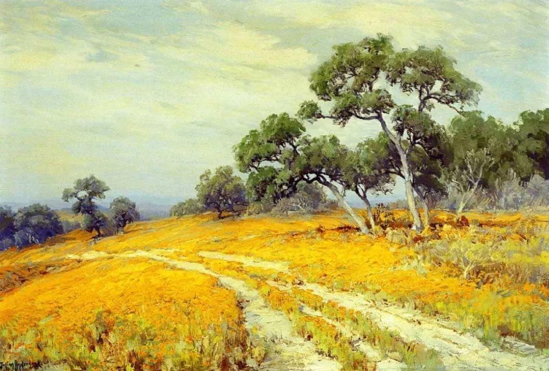 蓝色风景,美国画家罗伯特·朱利安·昂德登克插图56