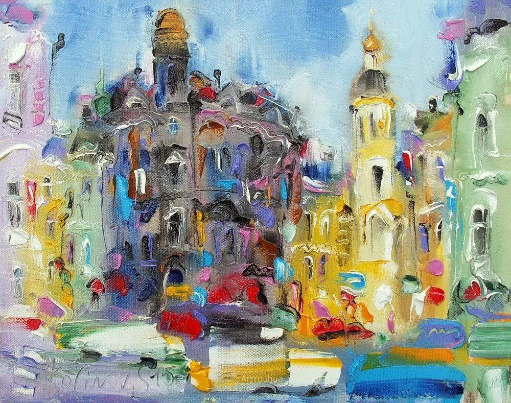 天真抒情表现主义,Sergey Kotinov和Galina Kotinova作品欣赏插图17