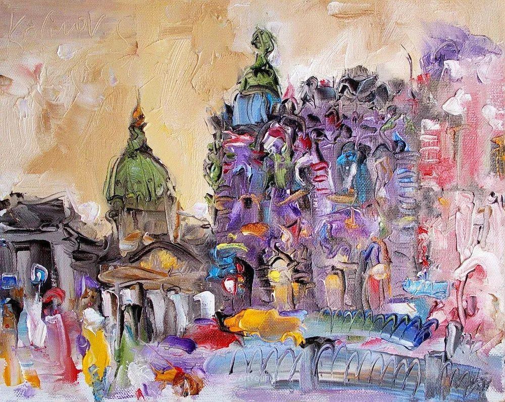 天真抒情表现主义,Sergey Kotinov和Galina Kotinova作品欣赏插图35