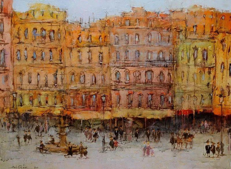 欧洲城市风情,乌克兰画家古克·安德烈插图21