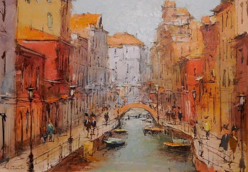 欧洲城市风情,乌克兰画家古克·安德烈插图23