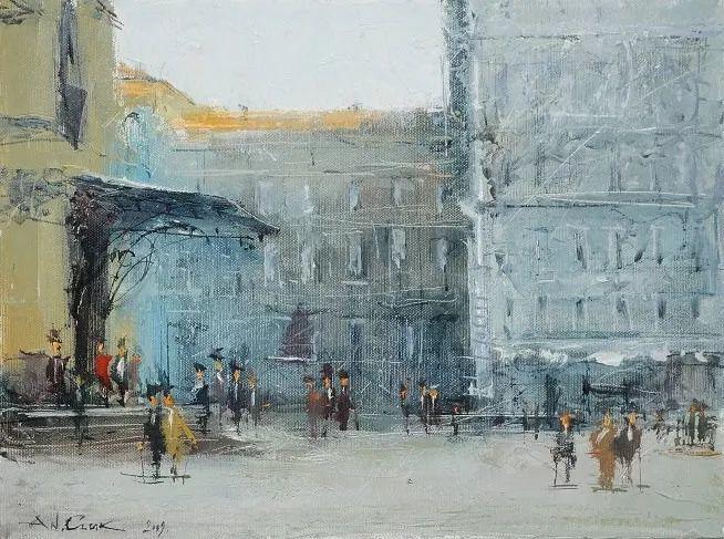 欧洲城市风情,乌克兰画家古克·安德烈插图45