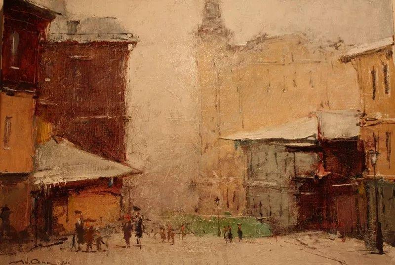 欧洲城市风情,乌克兰画家古克·安德烈插图57