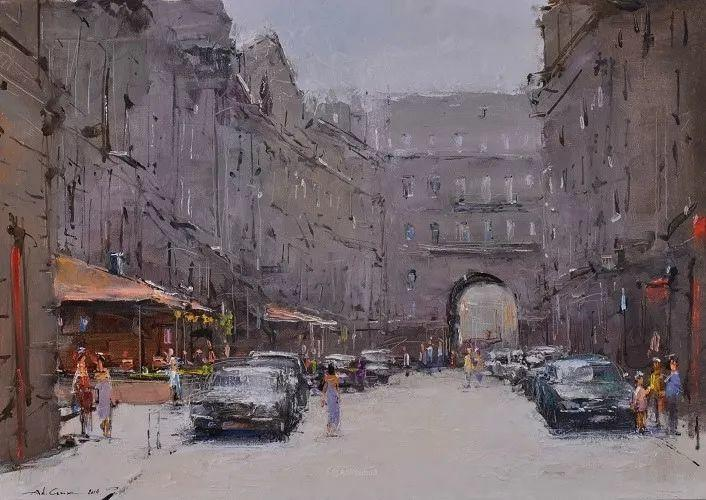 欧洲城市风情,乌克兰画家古克·安德烈插图71