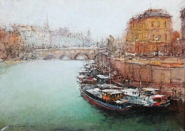 欧洲城市风情,乌克兰画家古克·安德烈插图73