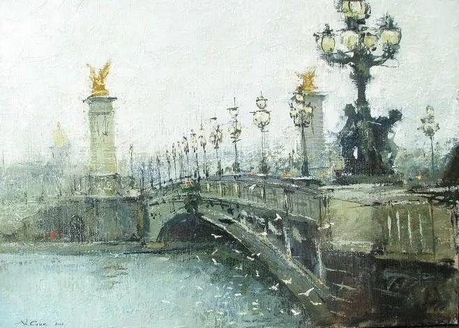 欧洲城市风情,乌克兰画家古克·安德烈插图83