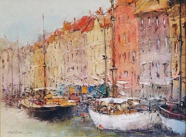 欧洲城市风情,乌克兰画家古克·安德烈插图87