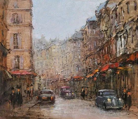 欧洲城市风情,乌克兰画家古克·安德烈插图95