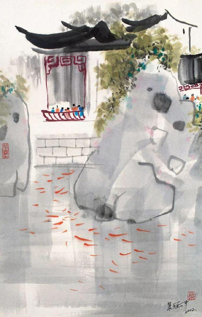 我的邻居吴冠中,天价作品与他无关!不觉一阵心痛!插图13
