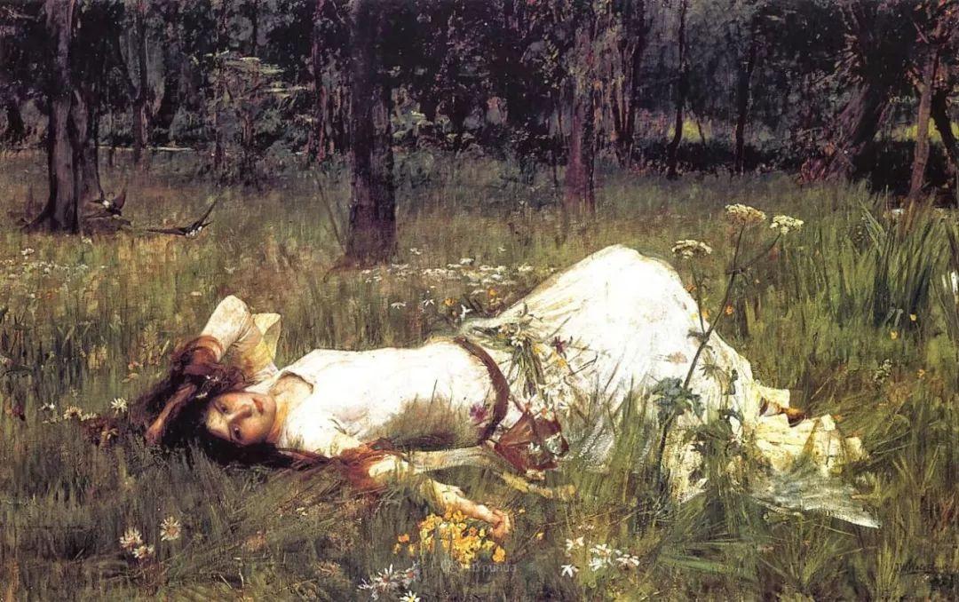 美若天仙的唯美诗性 ,英国皇家美术学院院士约翰·威廉姆·沃特豪斯插图