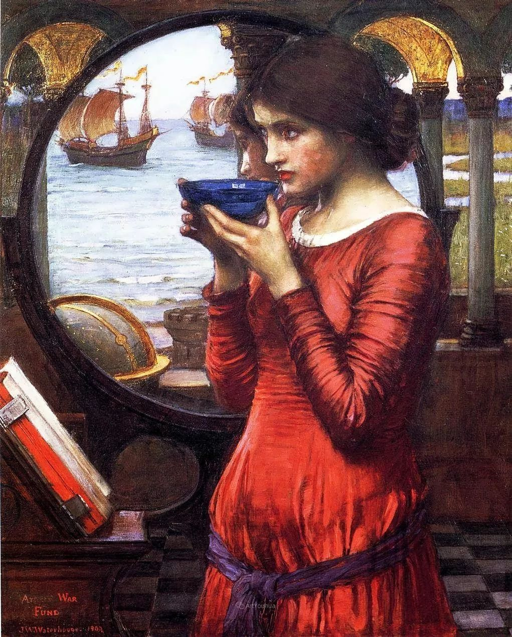 美若天仙的唯美诗性 ,英国皇家美术学院院士约翰·威廉姆·沃特豪斯插图35
