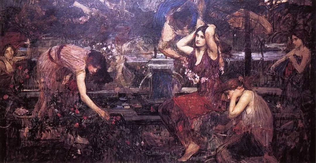 美若天仙的唯美诗性 ,英国皇家美术学院院士约翰·威廉姆·沃特豪斯插图59