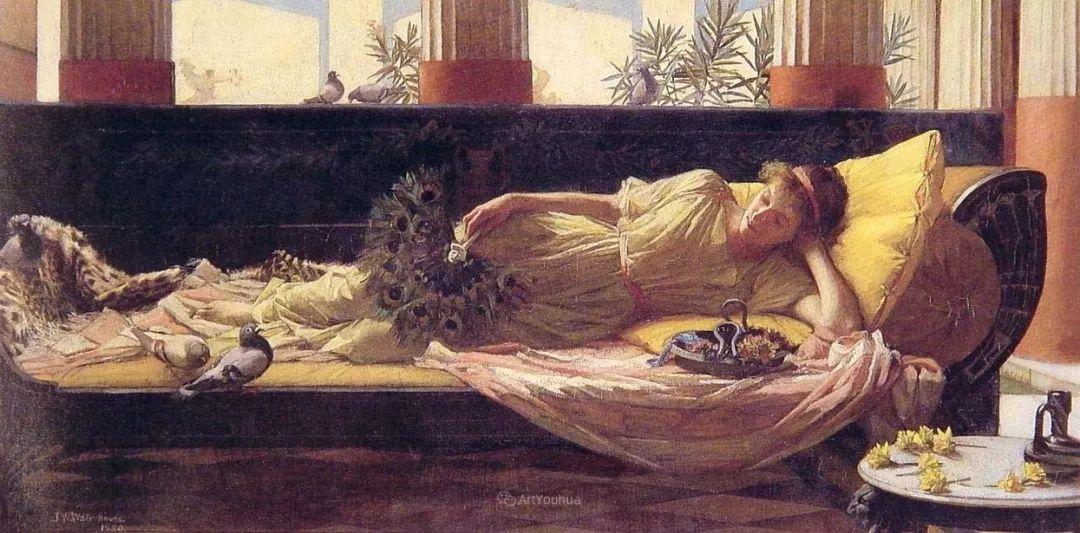 美若天仙的唯美诗性 ,英国皇家美术学院院士约翰·威廉姆·沃特豪斯插图62