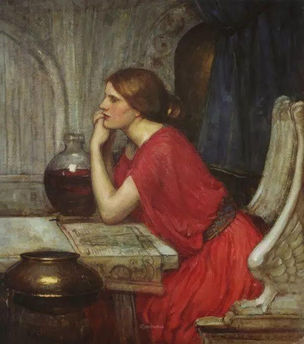 美若天仙的唯美诗性 ,英国皇家美术学院院士约翰·威廉姆·沃特豪斯插图74