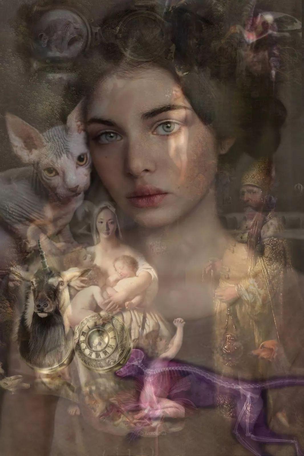 传统绘画与后现代元素的结合,英国画家伊娃·特洛伊插图1