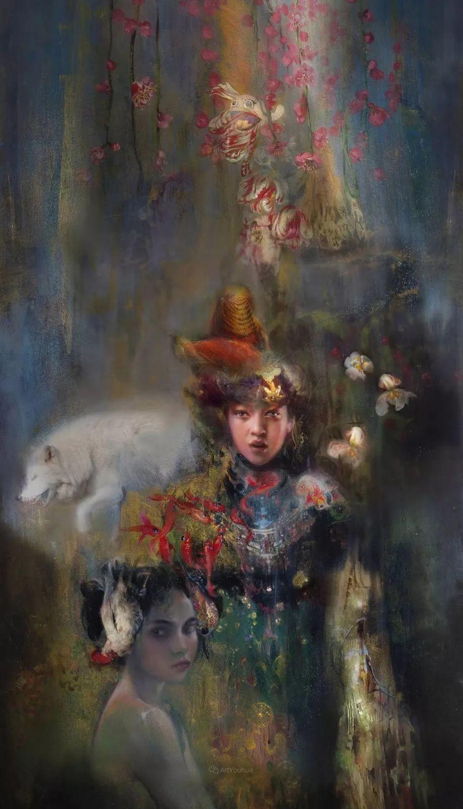 传统绘画与后现代元素的结合,英国画家伊娃·特洛伊插图2