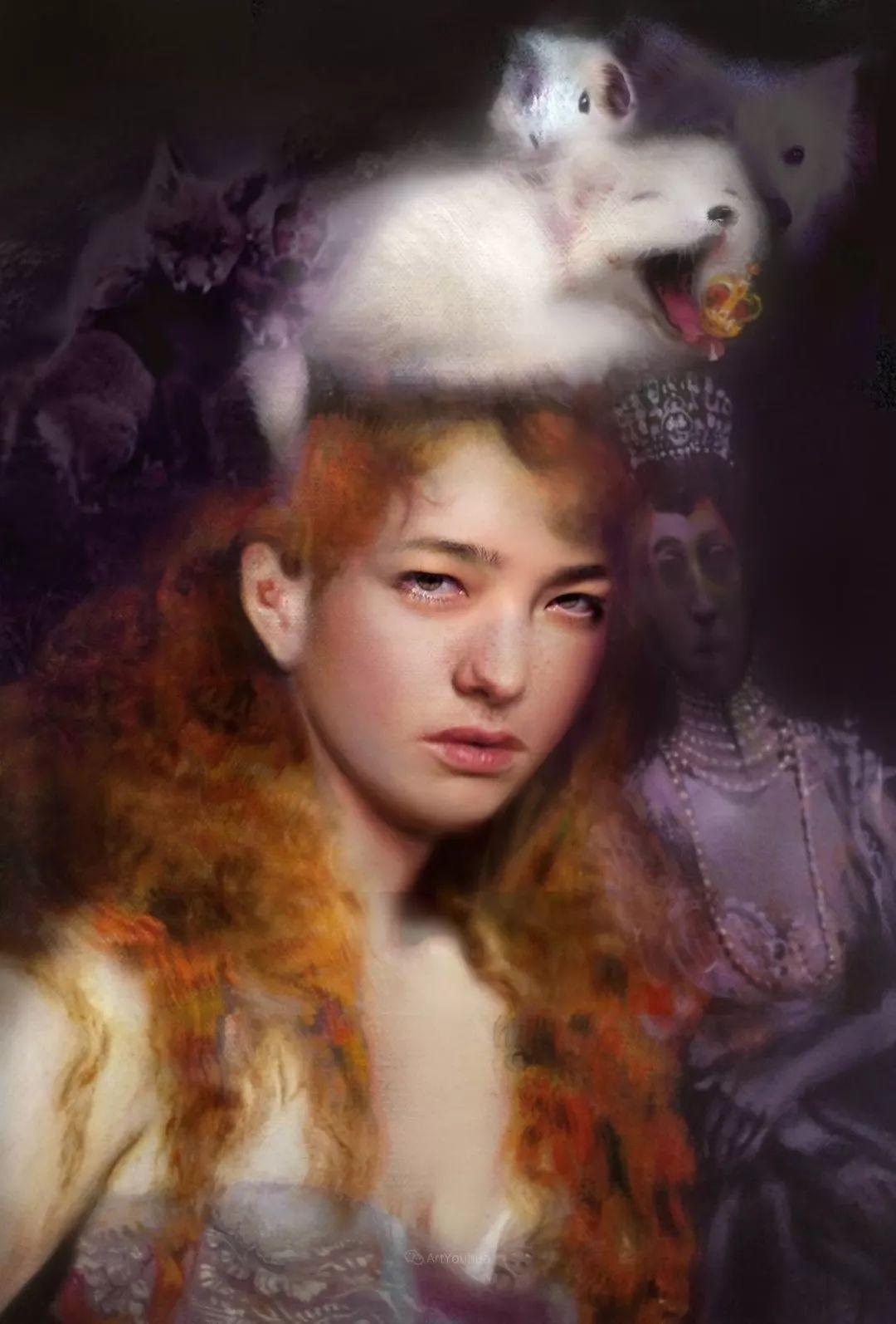 传统绘画与后现代元素的结合,英国画家伊娃·特洛伊插图4