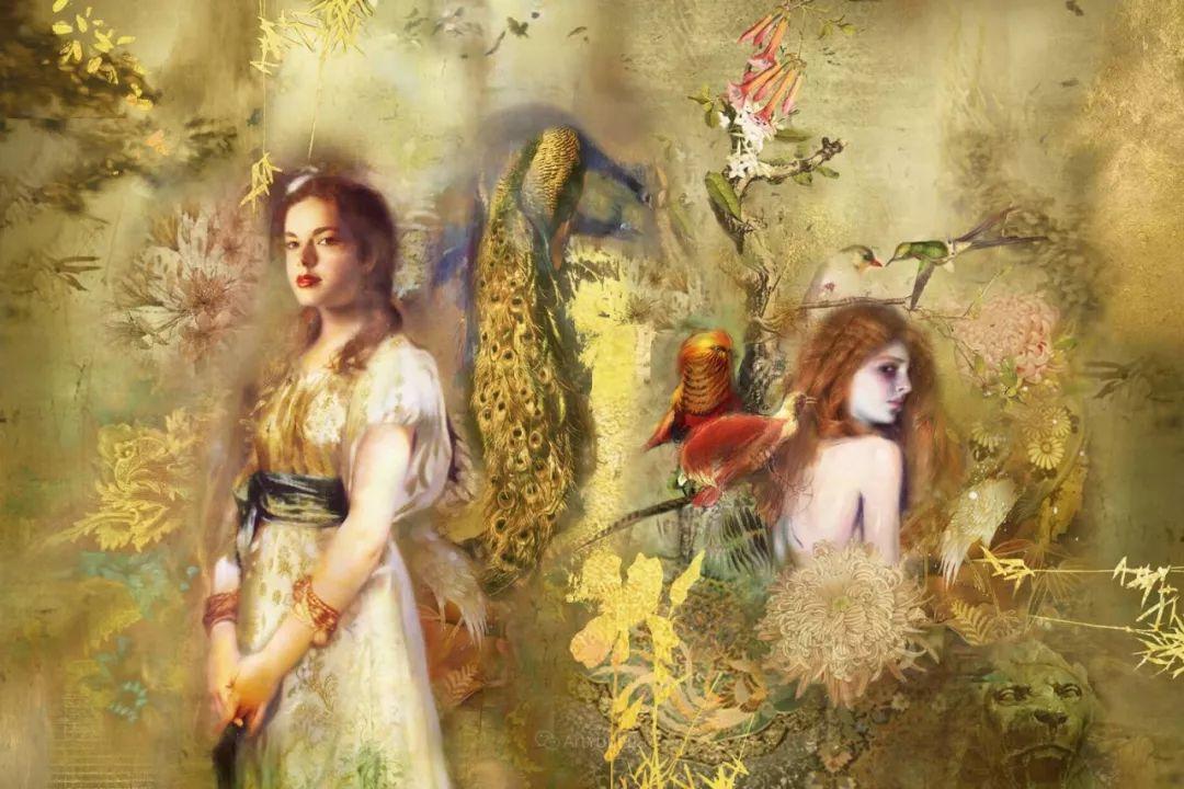 传统绘画与后现代元素的结合,英国画家伊娃·特洛伊插图5