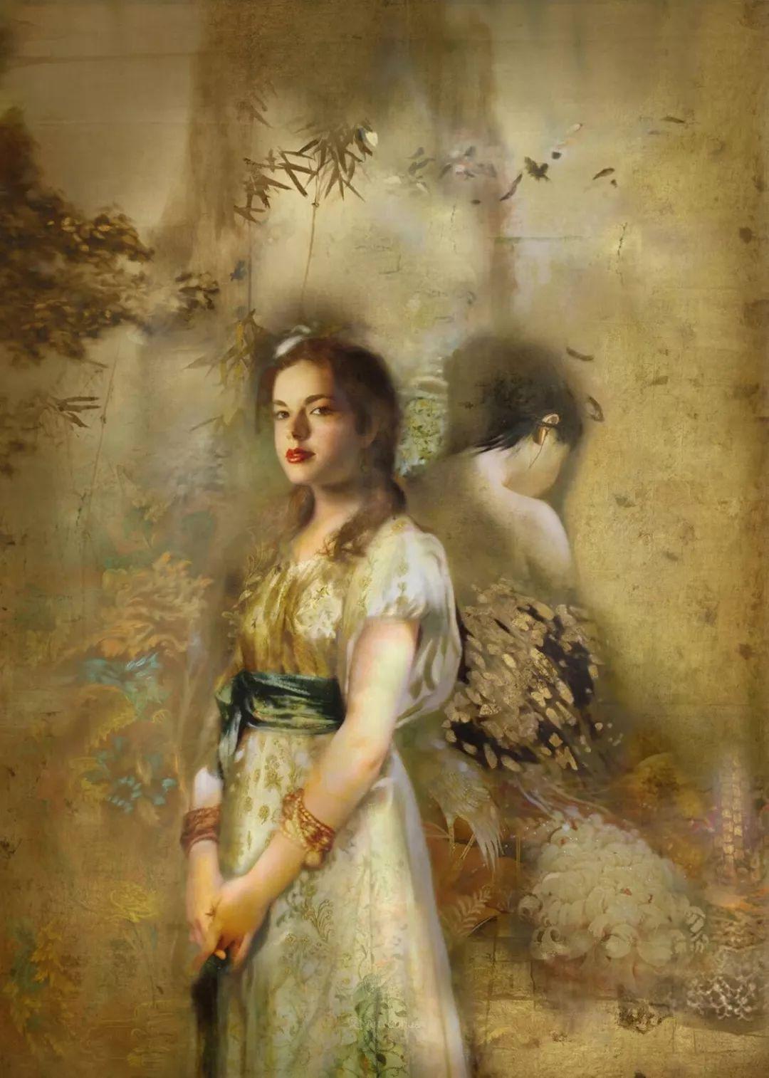 传统绘画与后现代元素的结合,英国画家伊娃·特洛伊插图7