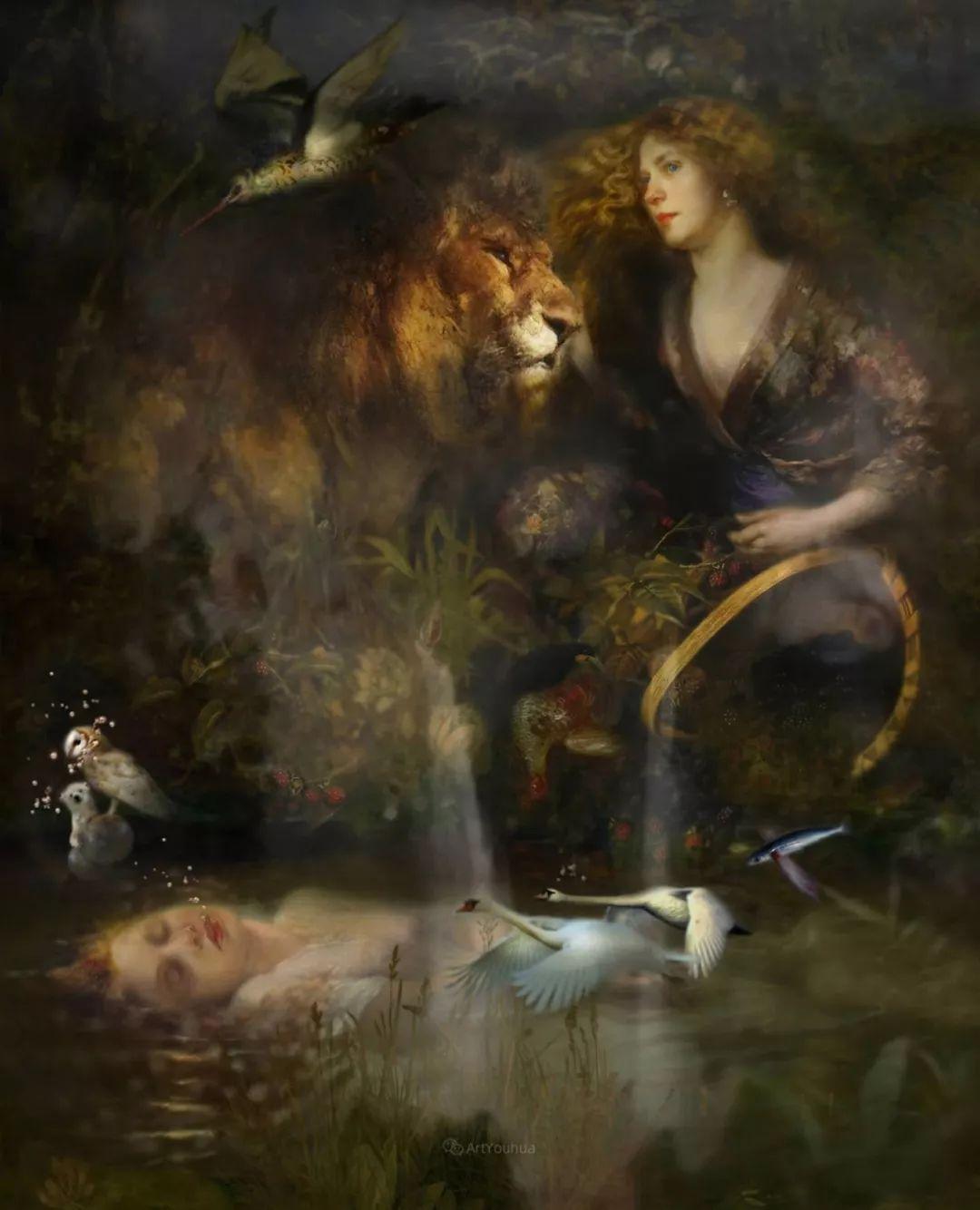 传统绘画与后现代元素的结合,英国画家伊娃·特洛伊插图9