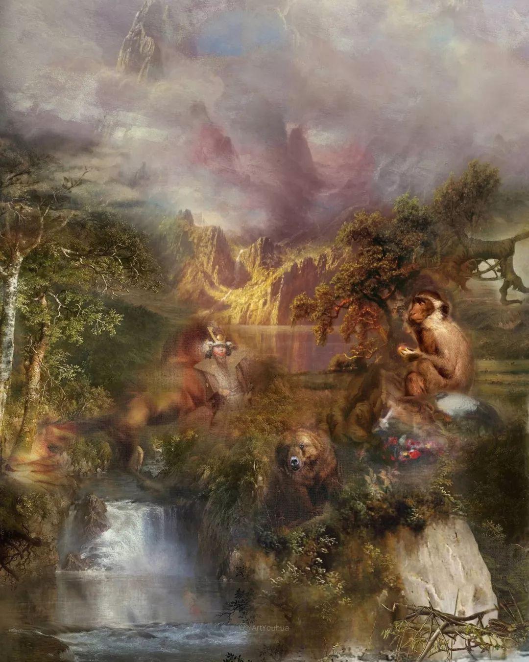 传统绘画与后现代元素的结合,英国画家伊娃·特洛伊插图11