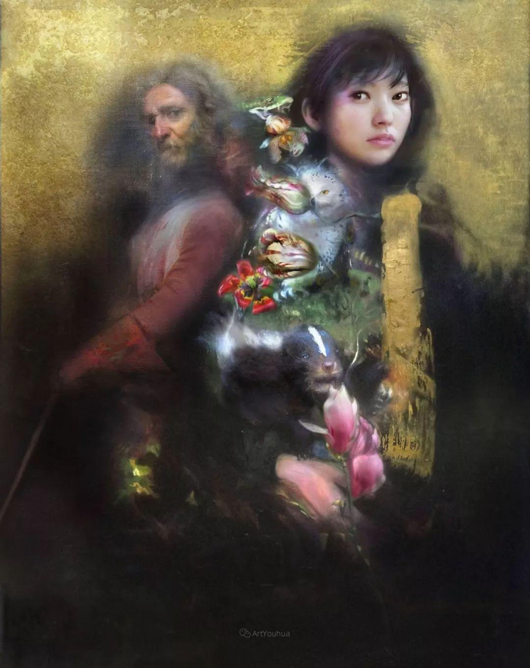传统绘画与后现代元素的结合,英国画家伊娃·特洛伊插图12