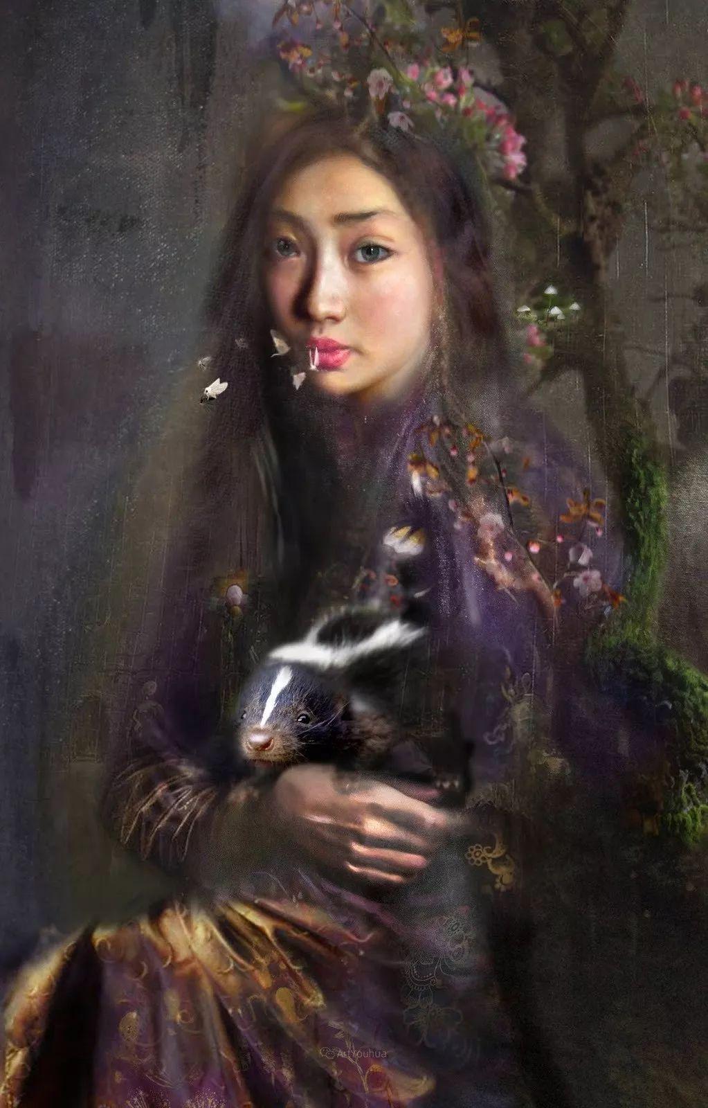 传统绘画与后现代元素的结合,英国画家伊娃·特洛伊插图13